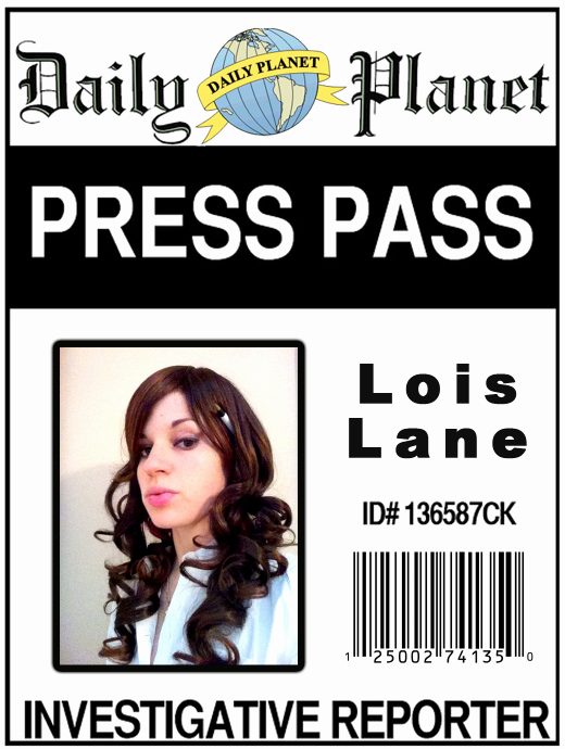 Free Press Pass Template Beautiful Lois Lane Press Pass by Diamondmarine On Deviantart