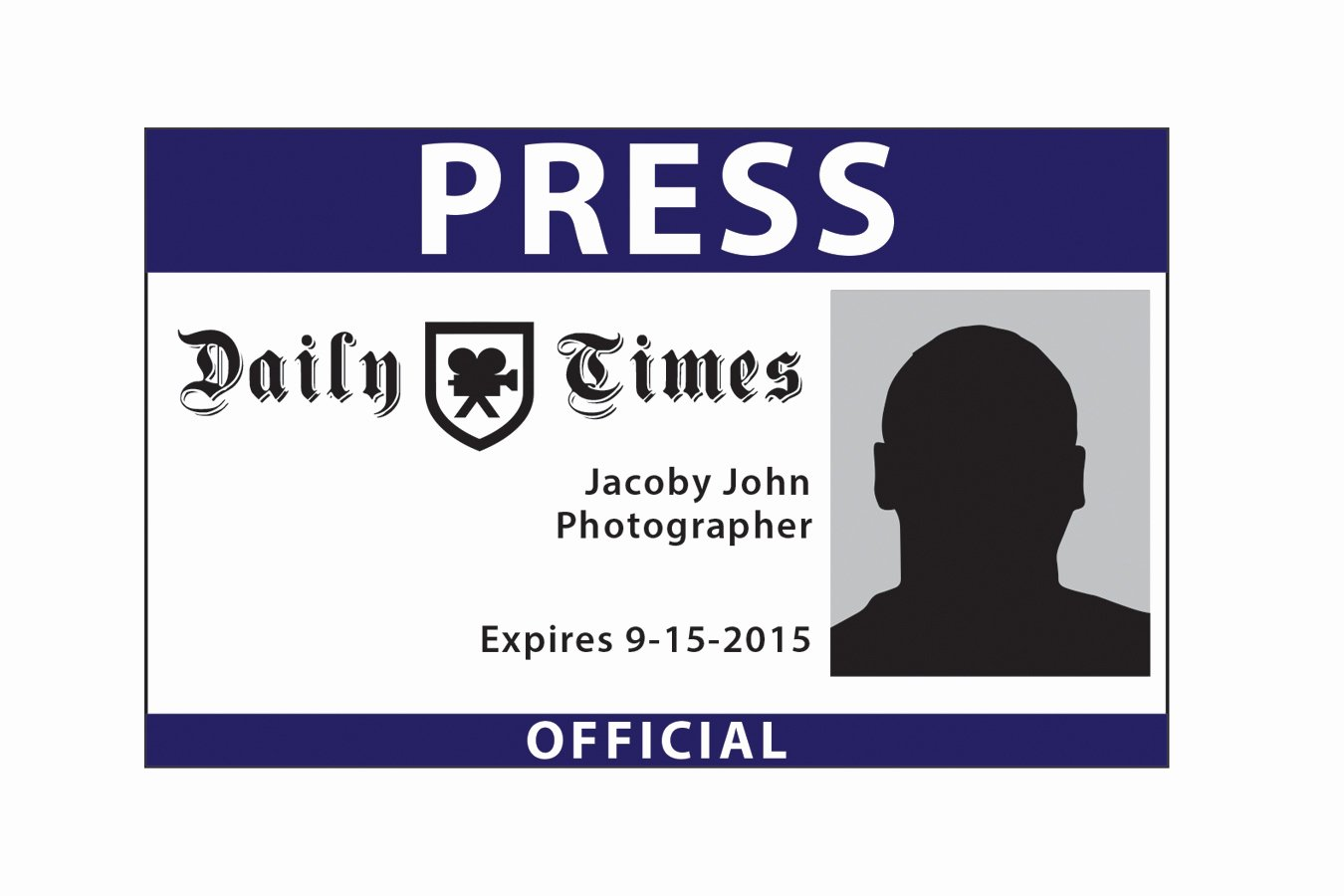 Free Press Pass Template Fresh Press Pass Template