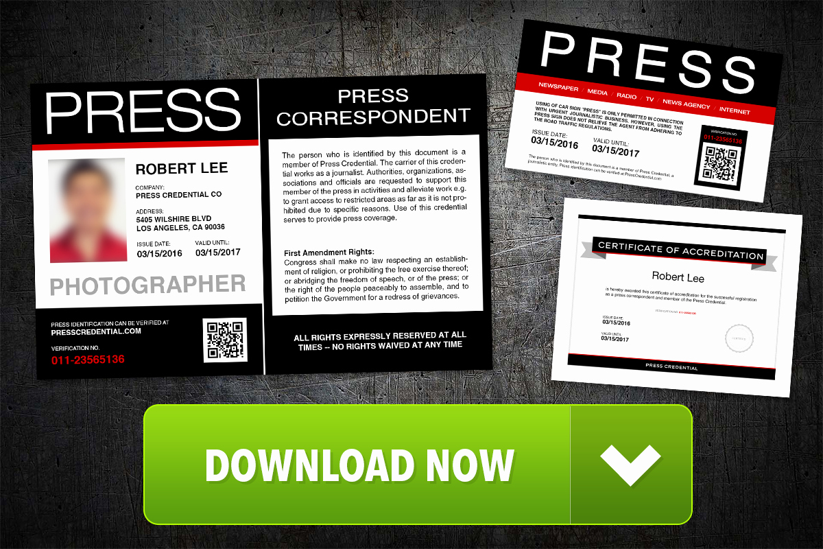 Free Press Pass Template Luxury Free Press Pass Template Launched by Press Credential