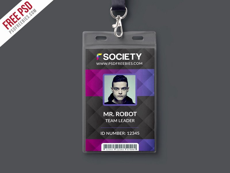 Free Press Pass Template Luxury Free Psd Corporate Fice Id Card Psd Template On Behance