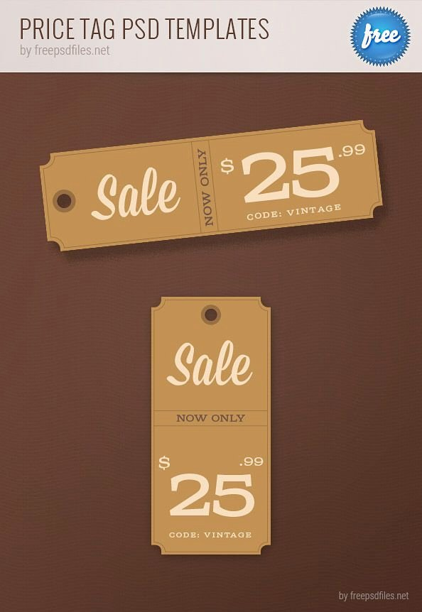 Free Price Tag Template Awesome Free Psd Price Tag Templates
