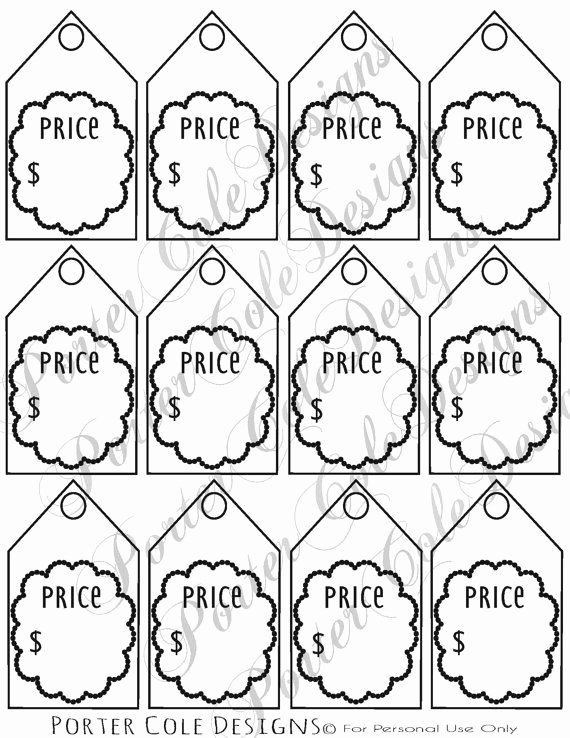 Free Price Tag Template Beautiful Price Tags Printable Digital File