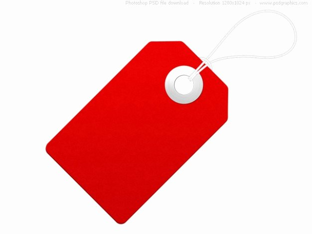 Free Price Tag Template New Blank Paper Label Red Price Tag Psd File
