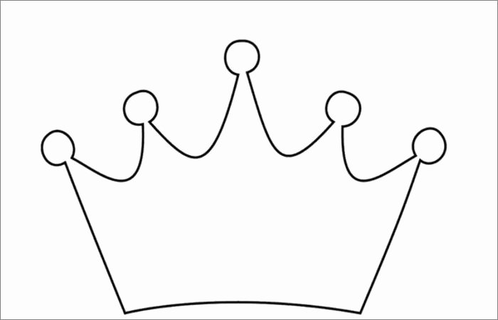 Free Princess Crown Template Printable Beautiful Crown Template Free Templates