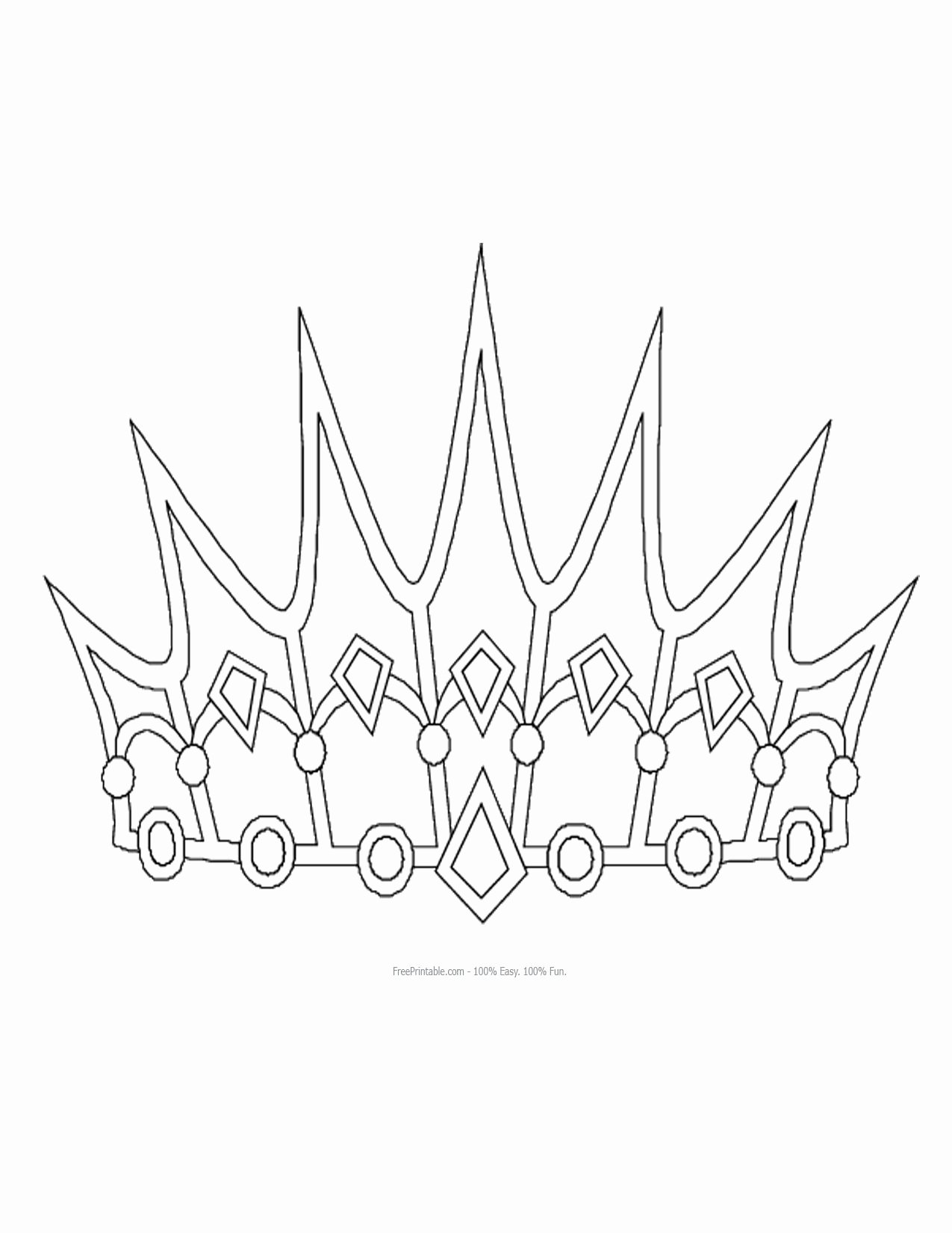 Free Princess Crown Template Printable Beautiful Free Printable Princess Crown Shapes