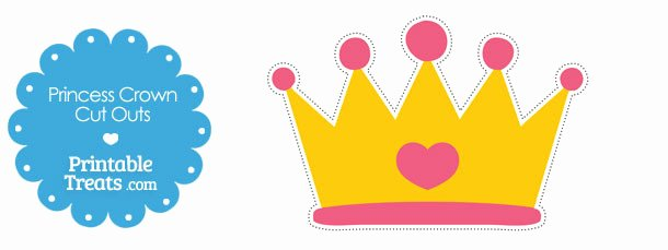 Free Princess Crown Template Printable Beautiful Printable Cut Out Princess Crown — Printable Treats
