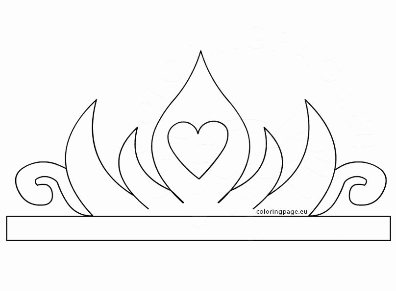 Free Princess Crown Template Printable Fresh Princess Paper Crown Printable – Coloring Page