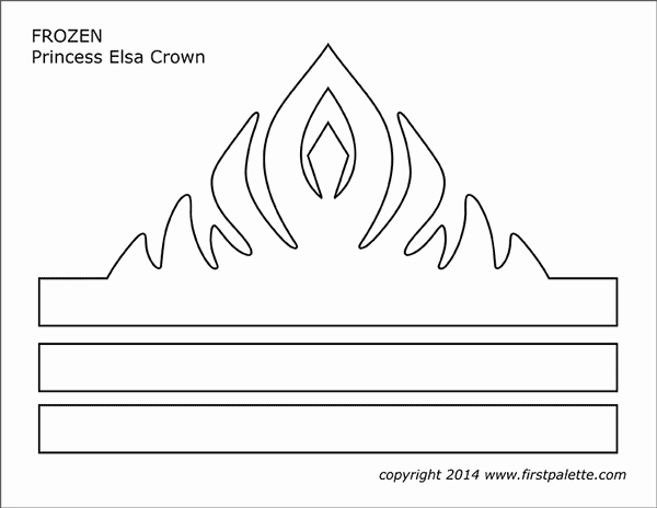 Free Princess Crown Template Printable Lovely Frozen Princess Crown Templates