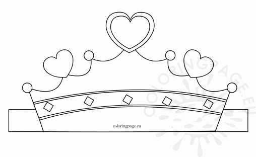Free Princess Crown Template Printable New Carnival Coloring Page