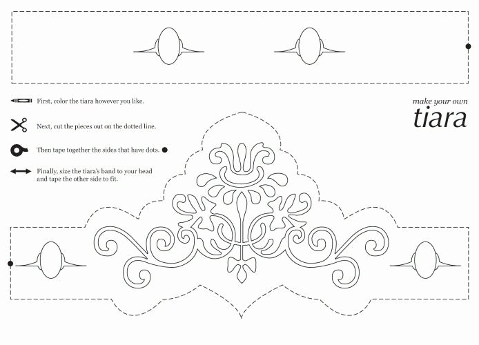 Free Princess Crown Template Printable New Free Printable Princess Crown Coloring Pages
