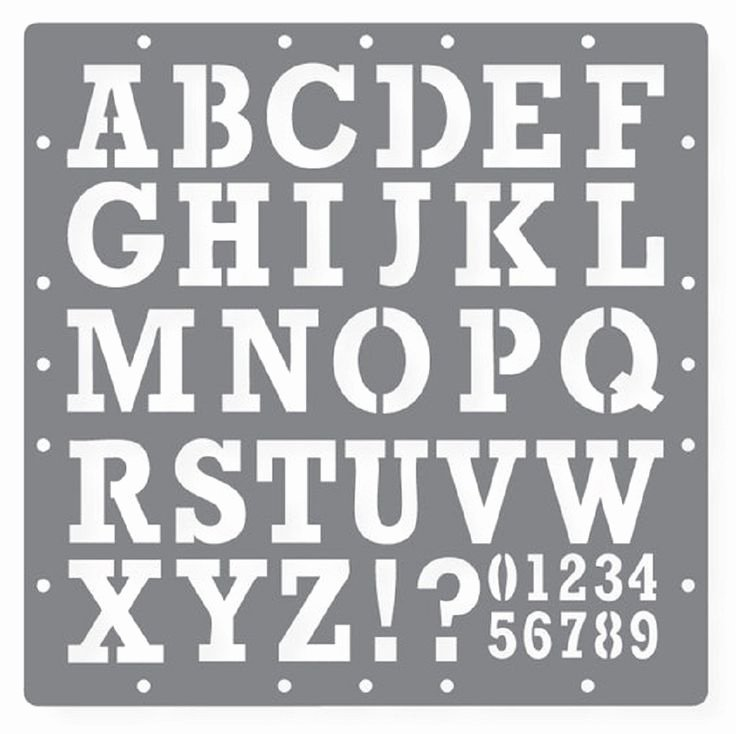 Free Printable Alphabet Stencils Templates Beautiful Free Printable Letters and Numbers