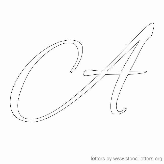 Free Printable Alphabet Stencils Templates Fresh Letter Stencils Cursive Stencil Letter A