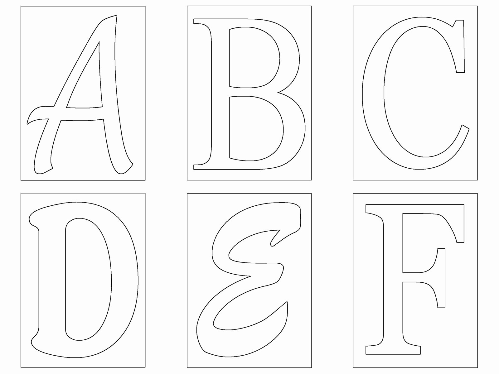Free Printable Alphabet Stencils Templates Lovely Free Letter Templates