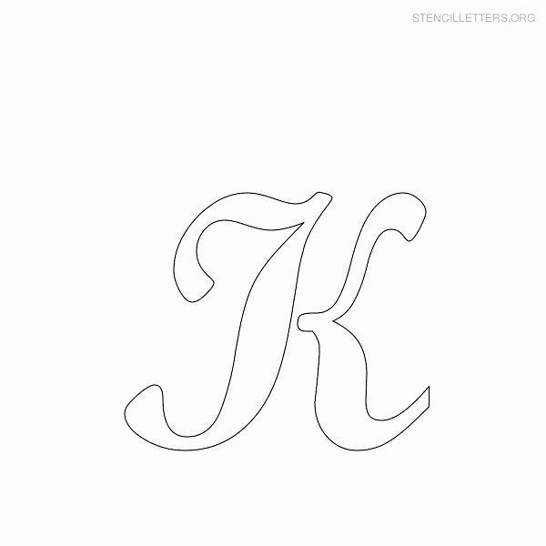 Free Printable Alphabet Stencils Templates Unique Capital Letter K