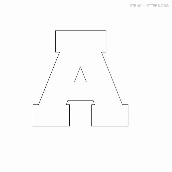 Free Printable Alphabet Stencils Templates Unique Free Printable Block Letter Stencils