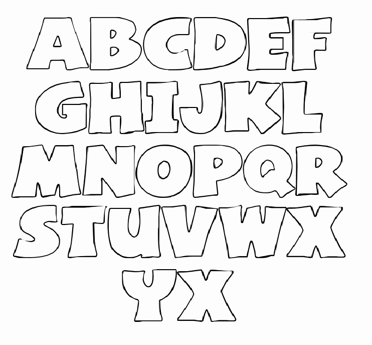 Free Printable Alphabet Stencils Templates Unique Printable Letter Stencils Templates