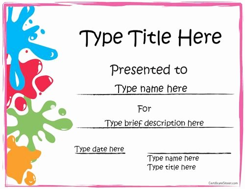 Free Printable Award Certificates Awesome Free Printable Award Certificate Template