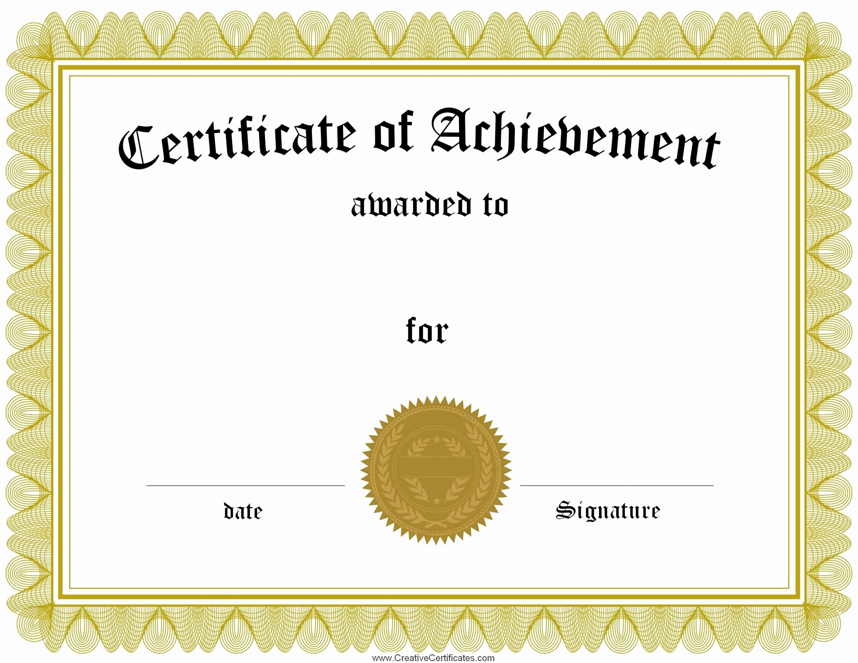 Free Printable Award Certificates Best Of Free Customizable Certificate Of Achievement