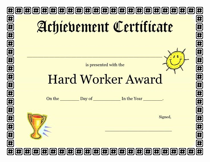 Free Printable Award Certificates Elegant Printable Achievement Certificates Kids