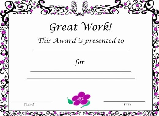 Free Printable Award Certificates Fresh Free Printable Award Certificates for Kids