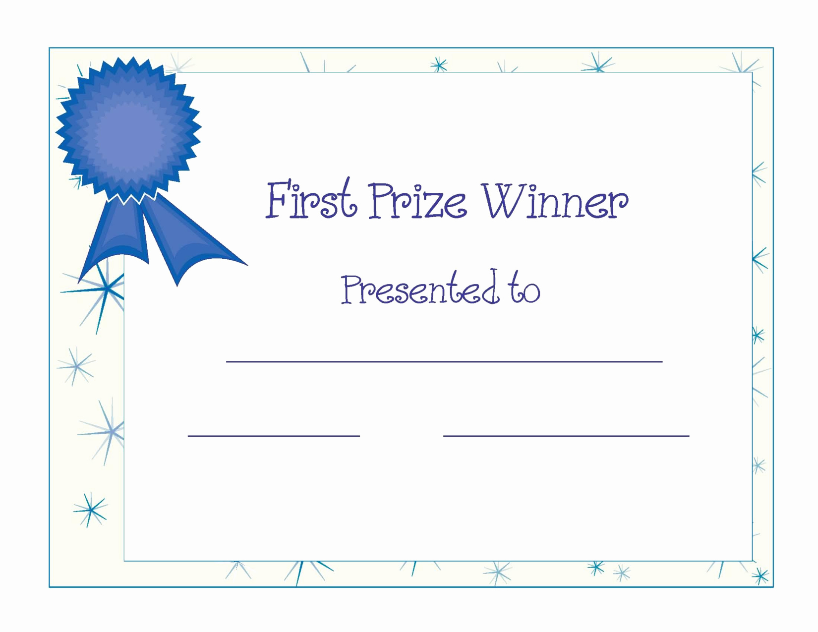 Free Printable Award Certificates Inspirational Free Printable Award Certificate Template