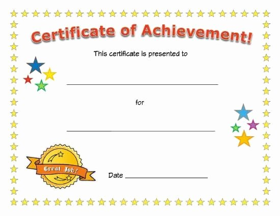 Free Printable Award Certificates Luxury Best 25 Certificate Of Achievement Template Ideas On