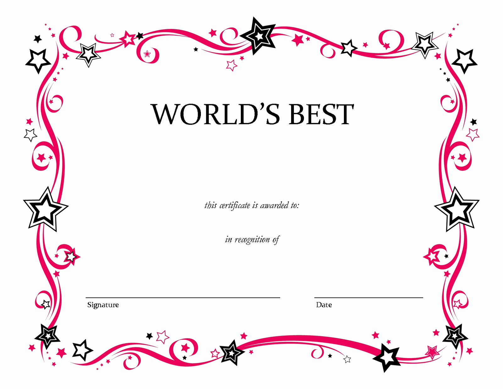 Free Printable Award Certificates Luxury Blank Certificate Templates to Print