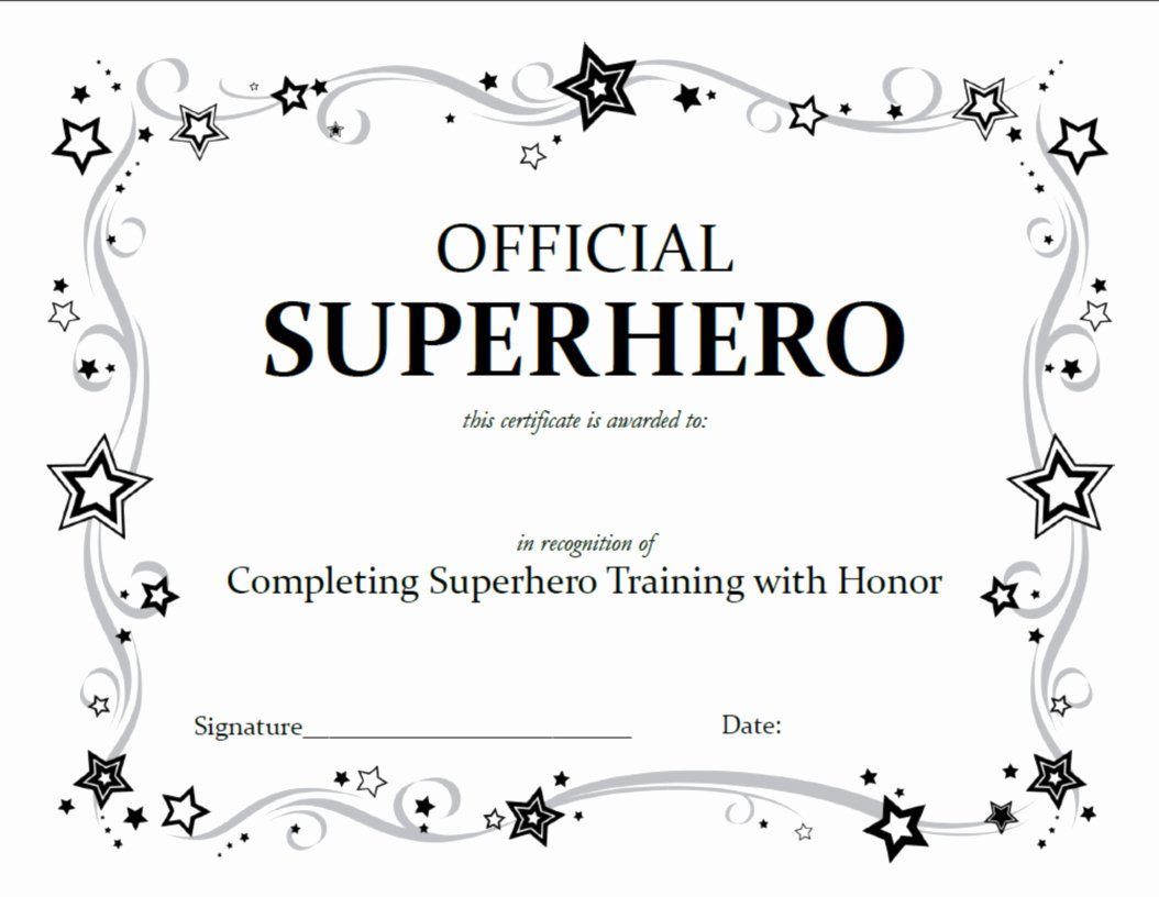 Free Printable Award Certificates Unique Superhero Archives A Little Tipsy