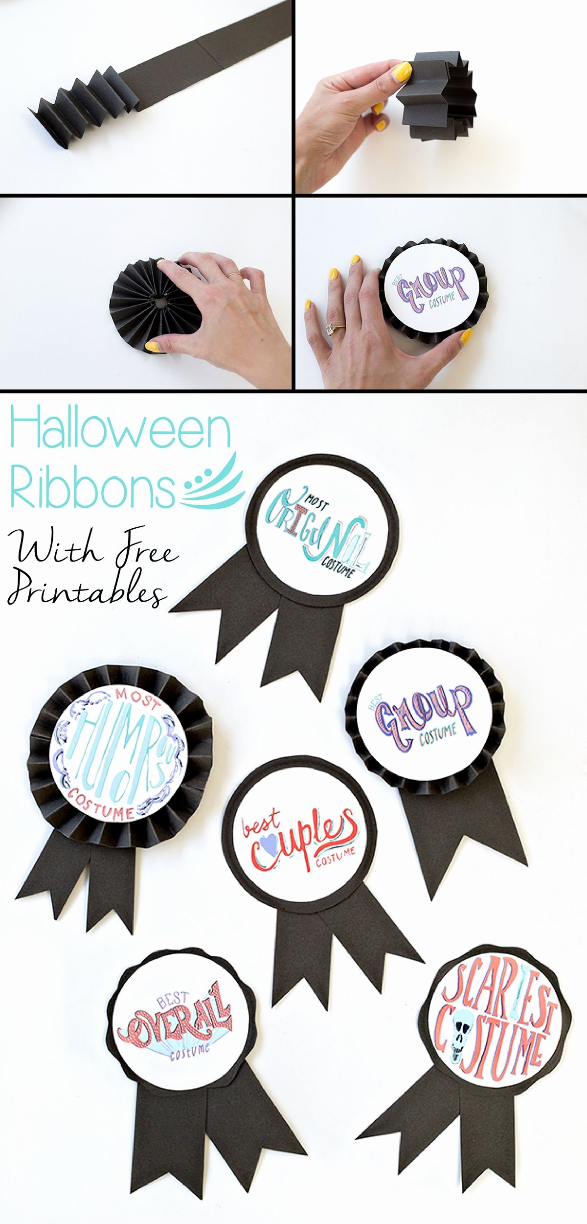 Free Printable Award Ribbons Awesome Diy Halloween Costume Award Ribbons Free Printable