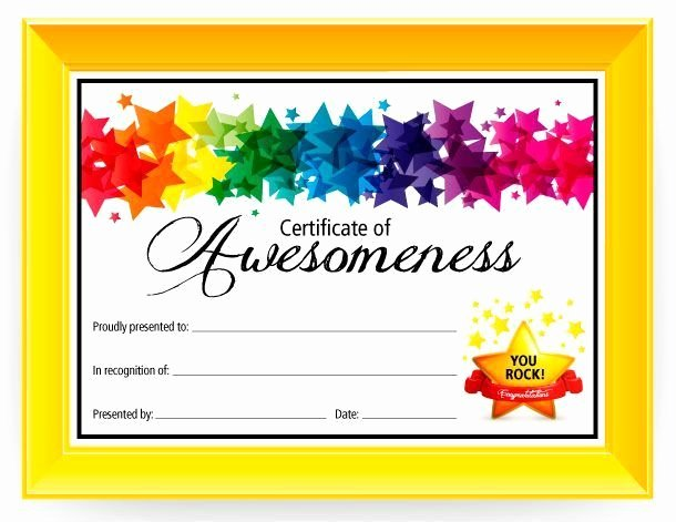 Free Printable Award Ribbons Best Of Certificate Of Awesomeness