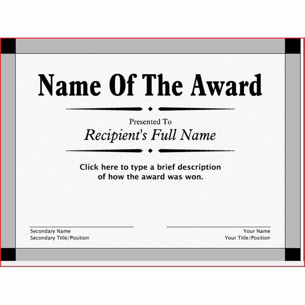 Free Printable Award Ribbons Best Of Free Printable Award Certificates 10 Great Options for A