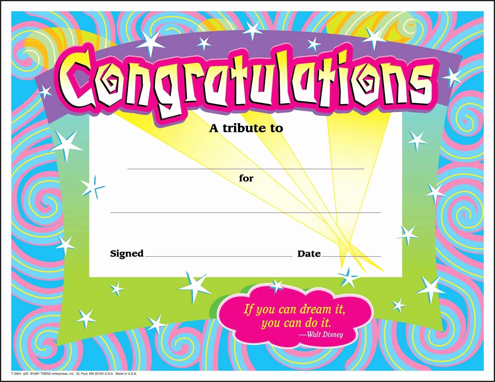 Free Printable Award Ribbons Inspirational 30 Congratulations Award Large Swirl Certificate Award
