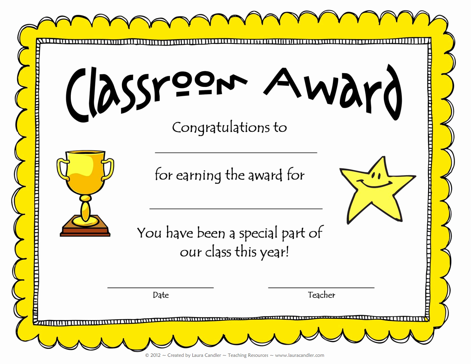 Free Printable Award Ribbons Unique Free Award Template From Laura Candler