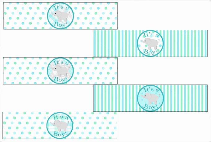 Free Printable Baby Shower Labels Awesome Water Bottle Label Template 28 Free Psd Eps Ai