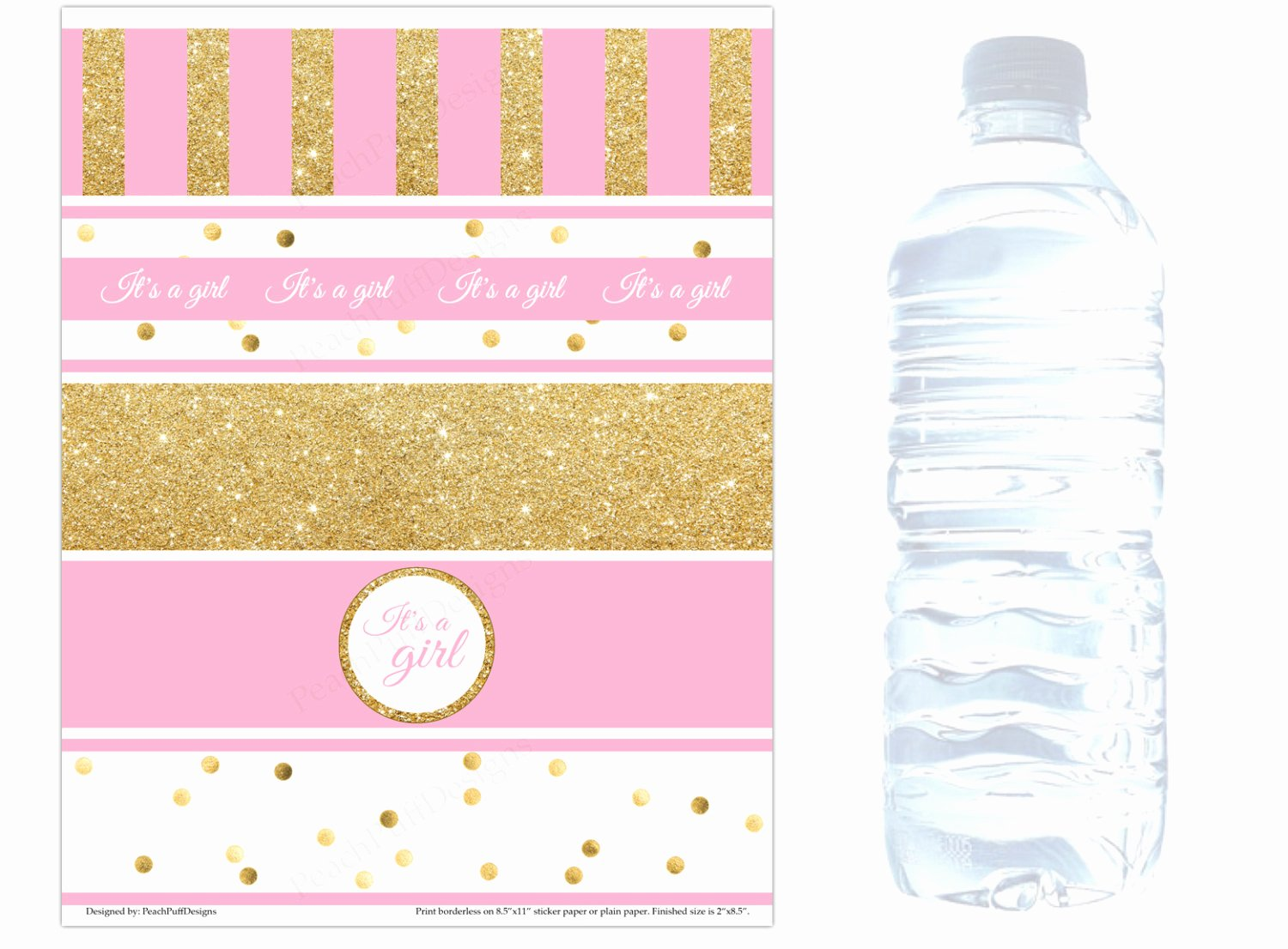 baby shower water bottle labels instant