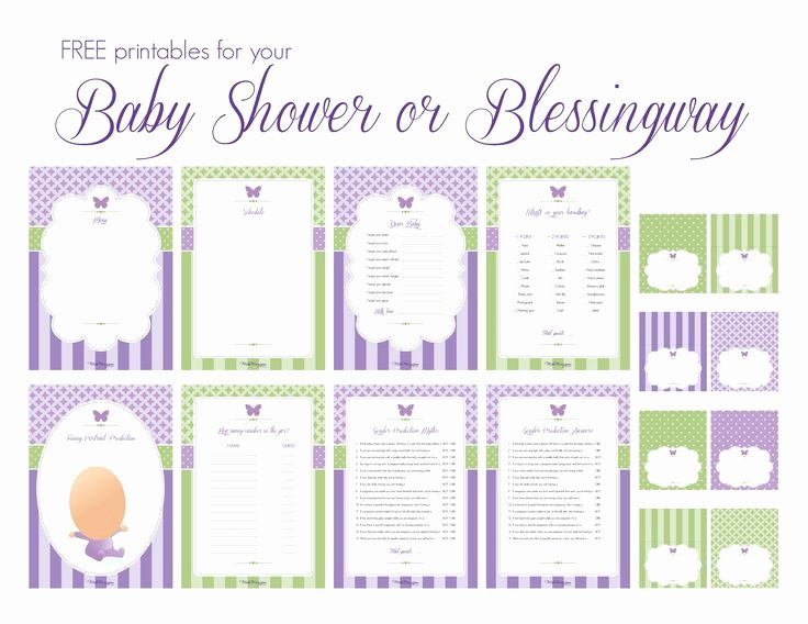 Free Printable Baby Shower Labels Inspirational Baby Shower Games and Buffet Labels