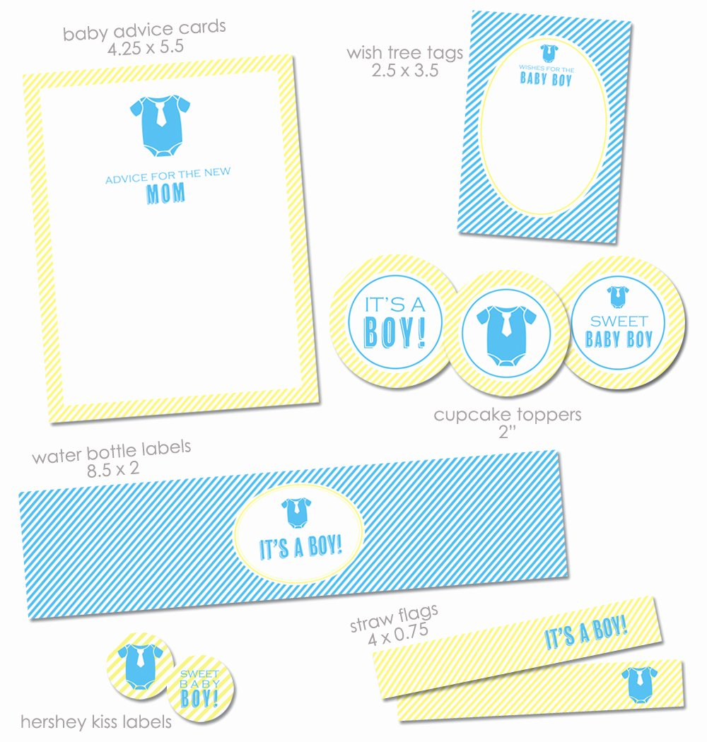 "Free Printable Baby Shower Labels Luxury Free ""it S A Boy"" Baby Shower Printables From Green Apple"