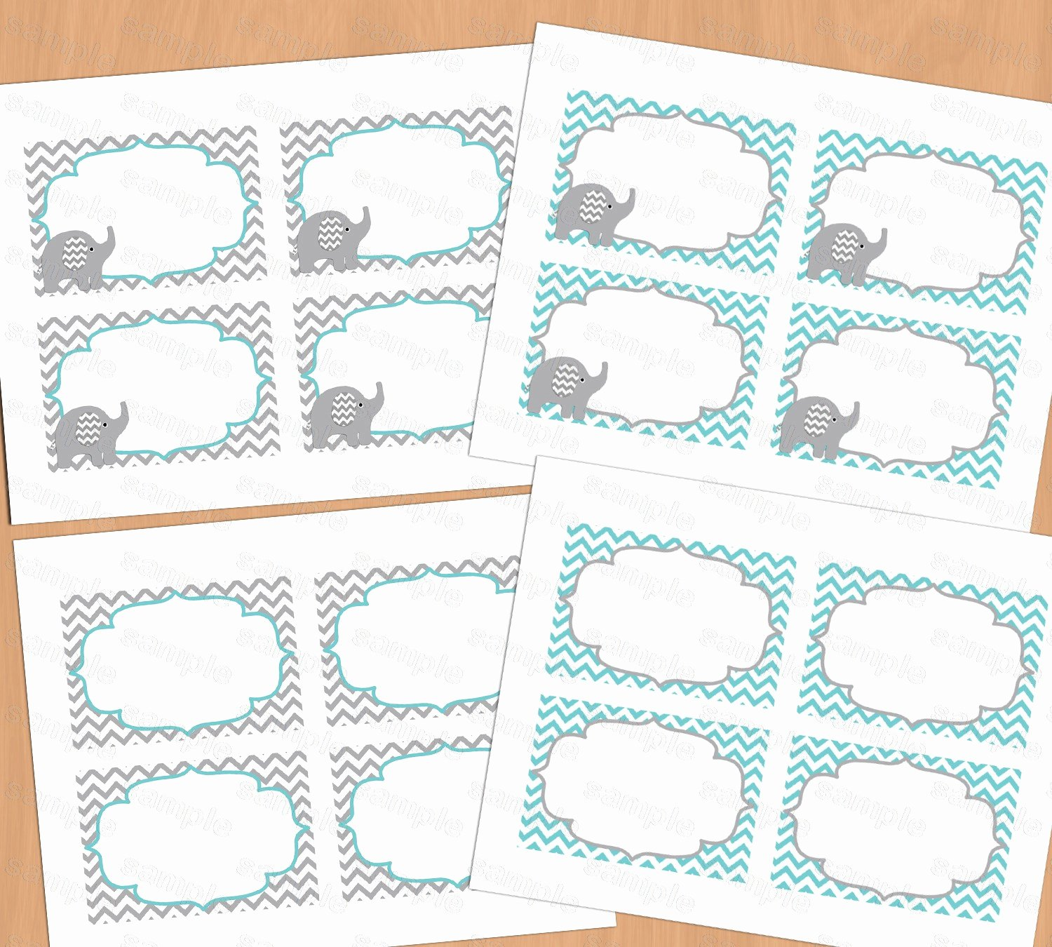 Free Printable Baby Shower Labels Luxury Printable Baby Shower Food Labels Place Card Blank Place
