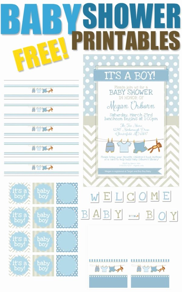Free Printable Baby Shower Tags Elegant 15 Free Baby Shower Printables Pretty My Party