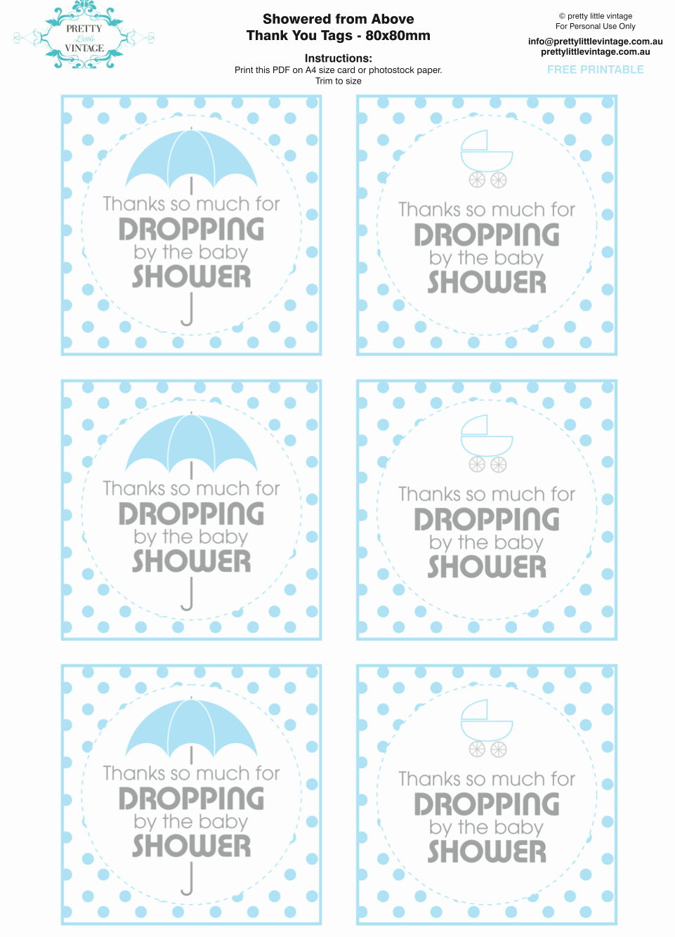 Free Printable Baby Shower Tags New Kara S Party Ideas Showered From Rain Boy Baby