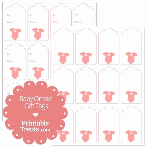 Free Printable Baby Shower Tags Unique Pink Baby Esie Gift Tags From Printabletreats