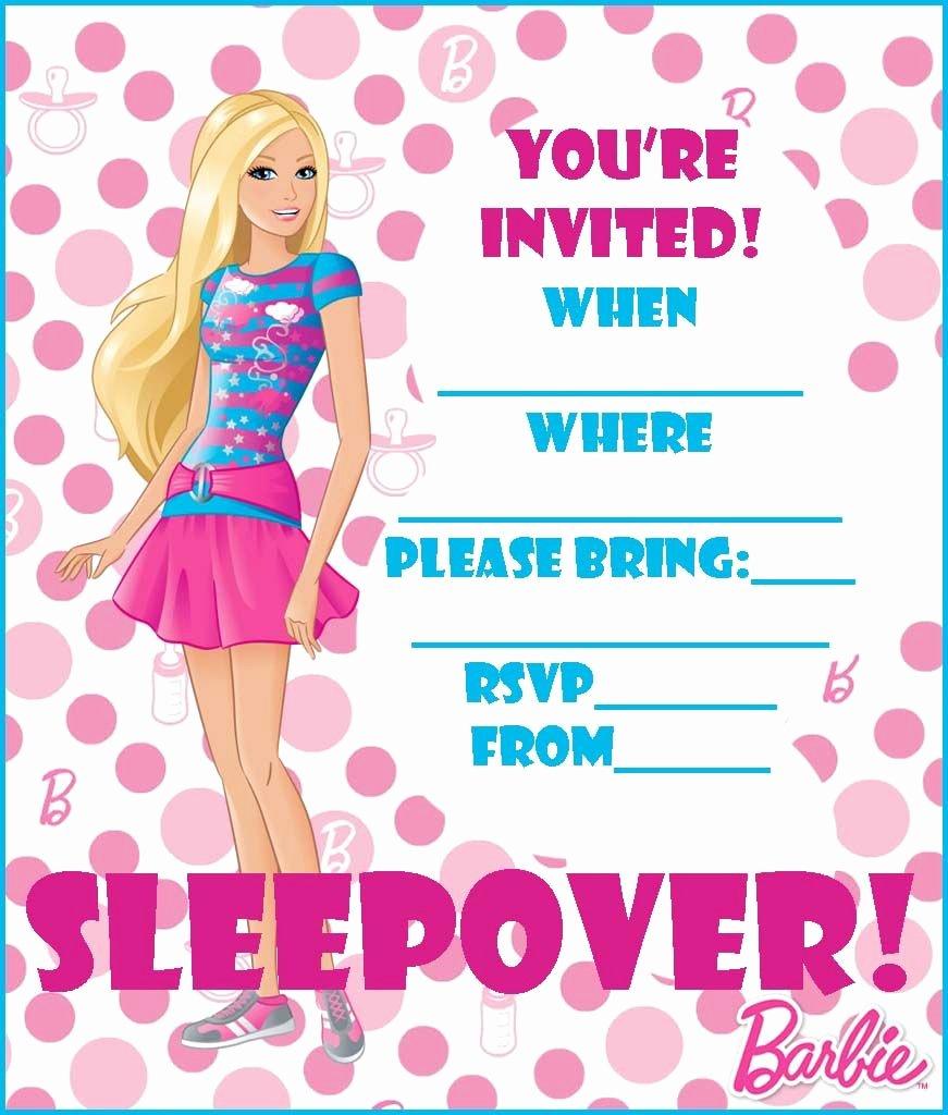 Free Printable Barbie Invitations Beautiful Free Barbie Coloring Pages and Free Printable Party