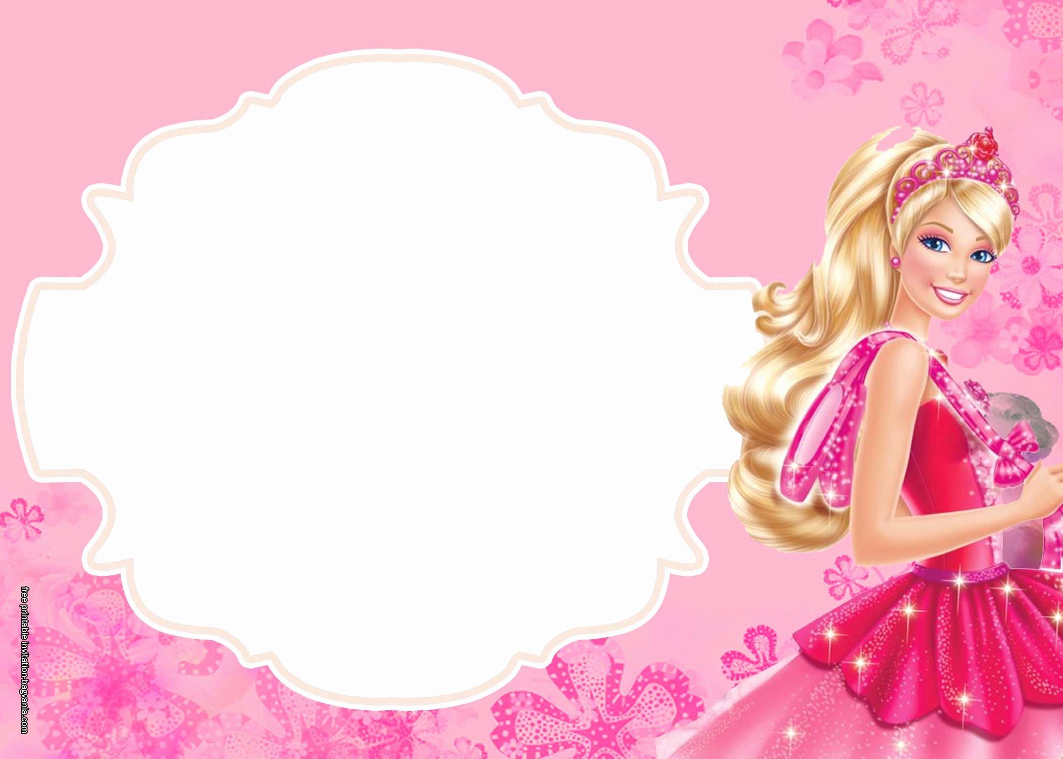 Free Printable Barbie Invitations Beautiful Free Printable Barbie Invitation Templates – Free