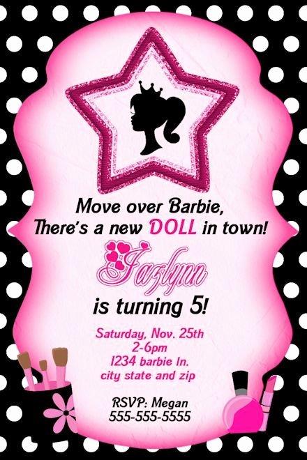 Free Printable Barbie Invitations Elegant Free Printable Barbie Birthday Invitations ask Image