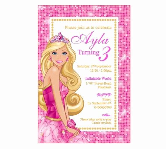 Free Printable Barbie Invitations Fresh Barbie Birthday Invitation Printable Pdf by Diypartiesbyrenee