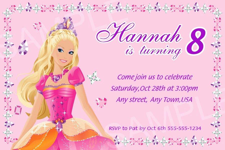 Free Printable Barbie Invitations Unique Barbie Invitation Printable Barbie Birthday Invitation