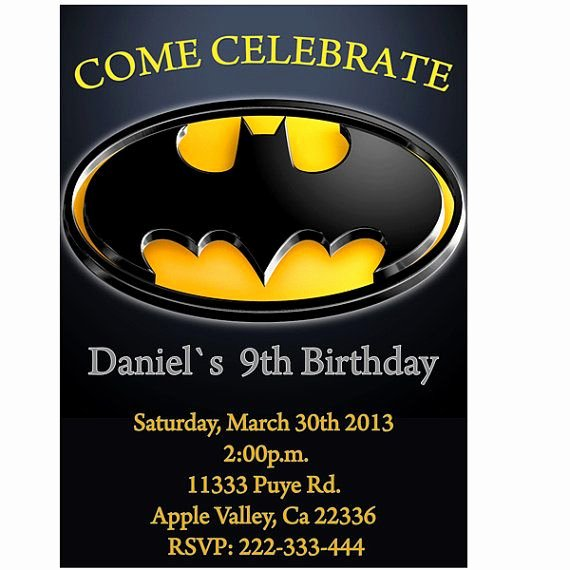 Free Printable Batman Invitations Best Of 17 Best Images About wholly 3rd Birthday Batman On