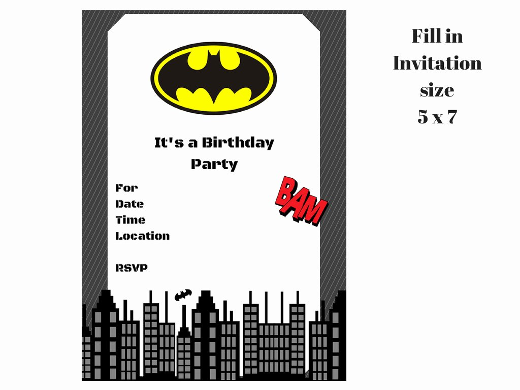 Free Printable Batman Invitations Best Of Batman Invitation Magical Printable