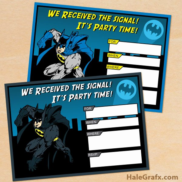 Free Printable Batman Invitations Best Of Free Printable Batman Birthday Invitation Set