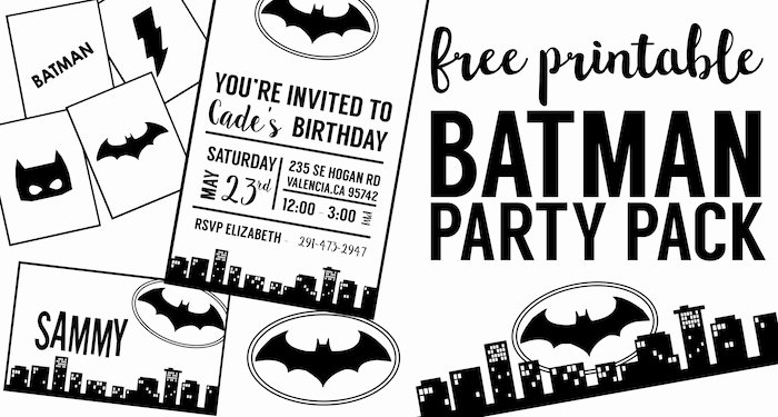 Free Printable Batman Invitations Elegant Free Batman Party Printables Paper Trail Design